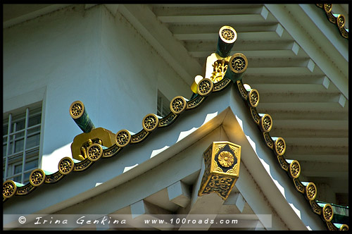 Главная башня, Тенсюкаку, Tenshukaku, 天守閣, Замок в Осака, Kin-jo, Osaka Castle, 大坂城, Осака, Osaka, 大阪, регион Кансай, 関西地方, Kansai, 関西, Хонсю, Honshu Island, 本州, Япония, Japan, 日本