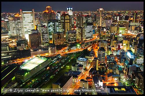 Высотный комплекс Умеда, Умэда Скай Билдинг, Umeda Sky Building, 梅田スカイビル, Осака, Osaka, 大阪, регион Кансай, 関西地方, Kansai, 関西, Хонсю, Honshu Island, 本州, Япония, Japan, 日本