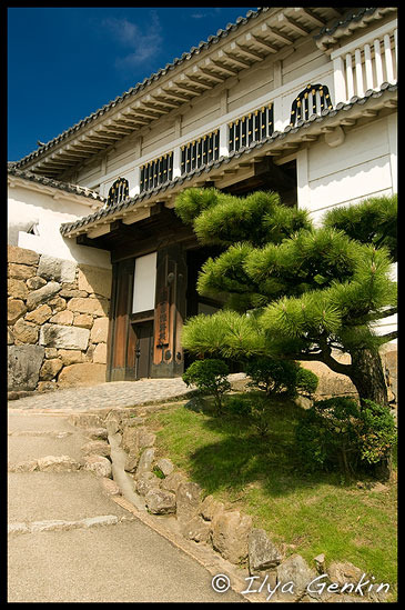 Алмазные Ворота, Hishi-no-mon, 菱の門, Замок Химедзи, Himeji Castle, 姫路城