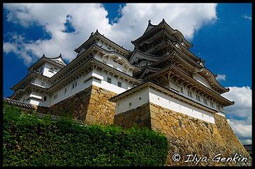 Вид на Главную Башню Замка Химедзи, Тенсюкаку, Tenshukaku, и Западная, Замок Химедзи, Himeji Castle