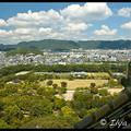 Вид на город с Главной Башни Замка, Замок Химедзи, Himeji Castle