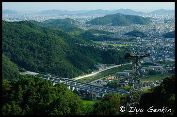 Вид с Горы Сёся на Химедзи, Himeji. View from Mount Shosha., Hyogo Prefecture, Kansai region, Honshu Island, Japan