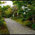 Дорожка, ведущая к гостевому дому, Koko-en Garden, Hyogo Prefecture, Kansai region, Honshu Island, Japan