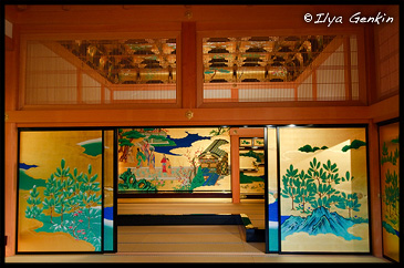 Зала Дворца Гон-Мару Го-тен Охирома, Honmaru Goten O-Hirima, Замoк Кумамото, Кумамото, Кусю, Япония