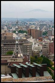Вид на город из Главной башни Замка Кумамото, Кумамото, Кусю, Япония