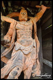 Daisho-in Temple Guard (Nio), Daisho-in Temple, Miyajima, Honshu, Japan