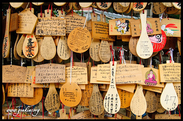 Ema, Prayer Tablets, at Daisho-in Temple, Miyajima, Honshu, Japan