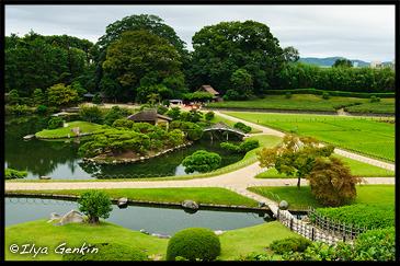 View from Yuishinzan Hill, Korakuen Garden, Okayama, Honshu, Japan