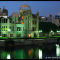 Atomic Bomb Dome at Dusk, Hiroshima, Honshu, Japan