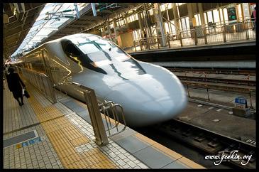 Поезд, Хикари, Перрон, Платформа, Осака, Вокзал Шин-Осака, Япония