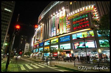 Yodobashi Camera, Ночная Акихабара, 秋葉原, Akihabara, Токио, Tokyo, 東京, Регион Канто, Kanto Region, 関東地方, Хонсю, Honshu Island, 本州, Япония, Japan, 日本