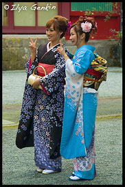 Незамужние близкие родственницы, Храм Кудзурю (Kuzu-ryu Jinja), Хаконэ (Hakone), 箱根, Япония (Japan), 日本