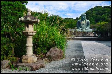 Дайбуцу (бронзовая статуя Великого Будды), храм Котоку-ин, Камакура, Япония,The Great Buddha (Daibutsu) of Kamakura, Kotoku-in Temple, Kamakura, Honshu, Japan