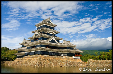 Замок Мацумото, Matsumoto Castle, Хонсю, Honshu Island, 本州, Япония, Japan, 日本
