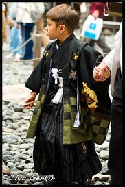 Мальчик в кимоно, Тосёгу, Toshogu, 東照宮, Никко, Nikko, 日光, Регион Канто, Kanto Region, 関東地方, Хонсю, Honshu Island, 本州, Япония, Japan, 日本