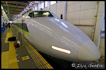 Хикари, Hikari, Станция Химедзи, Himeji station, Остров Хонсю, Honshu Island, Япония, Japan