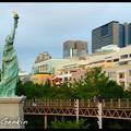 Копия Статуи Свободы на Одайбе, Statue of Liberty, Одайба (Odaiba), お台場, Токио, Tokyo, 東京, Kanto Region, Honshu Island, Япония, Japan