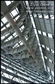 Крыша Токийского Международного Форума, Roof of Tokyo International Forum, 東京国際フォーラム, Токио, Tokyo, 東京, Регион Канто, Kanto Region, 関東地方, Хонсю, Honshu Island, 本州, Япония, Japan, 日本