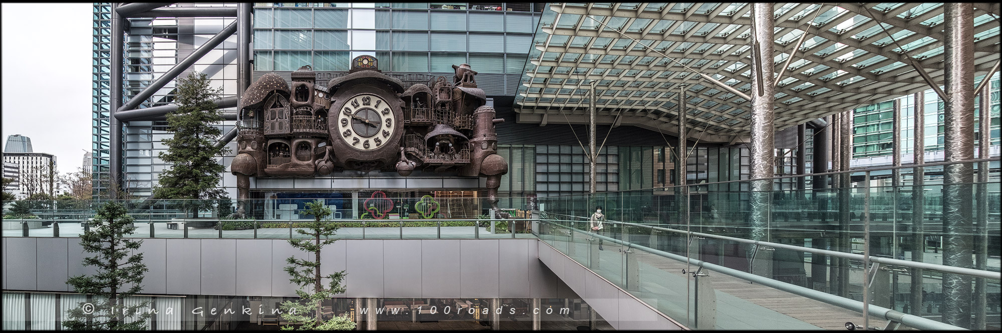 Гигантские часы Гибли, Giant Ghibli Clock, Ni-Tele Really Big Clock, Shiodome, Токио, Tokyo, 東京, Регион Канто, Kanto Region, 関東地方, Хонсю, Honshu Island, 本州, Япония, Japan, 日本)