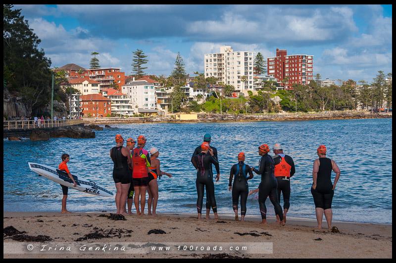 Пляж Мэнли, Manly Beach, Северные пляжи, Northen Beaches, Сидней, Sydney, Новый Южный Уэльс, New South Wales, Австралия, Australia