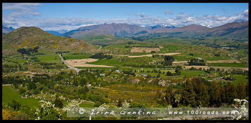 Смотровая площадка Арроутаун, Arrowtown Lookout, Южный остров, South Island, Новая Зеландия, New Zealand