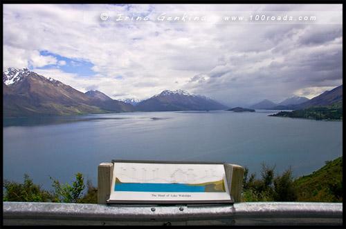 Смотровая площадка Bennett's Bluff, Bennett's Bluff Lookout, Озеро Вакатипу, Lake Wakatipu, Гленорчи, Glenorchy, Южный остров, South Island, Новая Зеландия, New Zealand