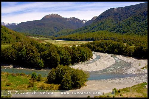 Смотровая площадка реки Кэмерон, Cameron Creek Lookout, Mt. Tamborine National Park, Южный остров, South Island, Новая Зеландия, New Zealand
