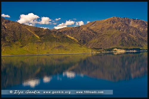 Озеро Хавеа, Lake Hawea, Южный остров, South Island, Новая Зеландия, New Zealand