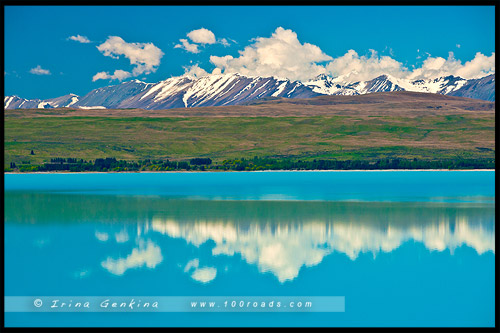 Озеро Пукаки, Lake Pukaki, Южный остров, South Island, Новая Зеландия, New Zealand