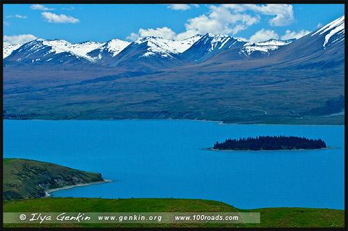 Озеро Текапо, Lake Tekapo, Южный остров, South Island, Новая Зеландия, New Zealand