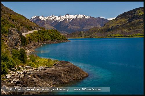 Озеро Ванака, Lake Wanaka, Южный остров, South Island, Новая Зеландия, New Zealand