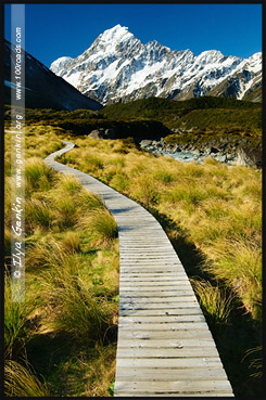 Тропа Долины Хукер, Hooker Valley Track, Aoraki Mount Cook National Park, Южный остров, South Island, Новая Зеландия, New Zealand
