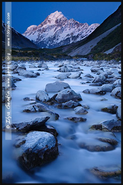 Гора Кука или Аораки, Тропа Долины Хукер, Hooker Valley Track, Aoraki Mount Cook National Park, Южный остров, South Island, Новая Зеландия, New Zealand