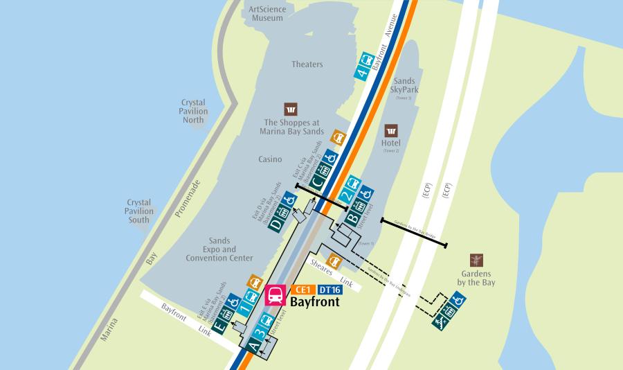 Карта-схема метро Сингапура