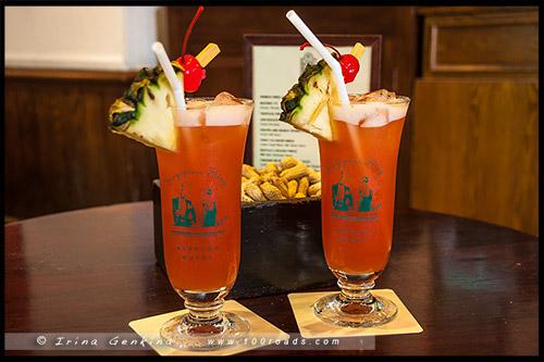 Сингапурский слинг, Singapore Sling, Лонг Бар, Long bar, Отель Раффлз, Raffles Hotel, Сингапур, Singapore
