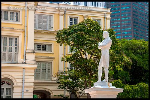 Место высадки Раффлза, Raffles Landing Site, Сингапур, Singapore