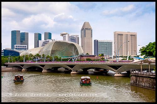Театр Эспланада, Esplanade Theatres, Мост Эспланада, Esplanade Bridge, Сингапур, Singapore