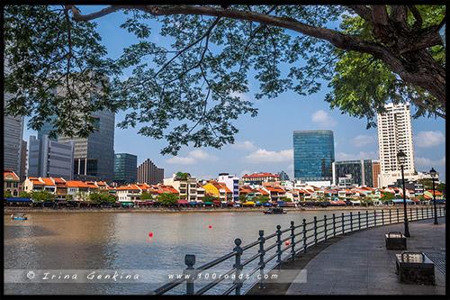 Лодочная набережная, Boat Quay, Сингапур, Singapore