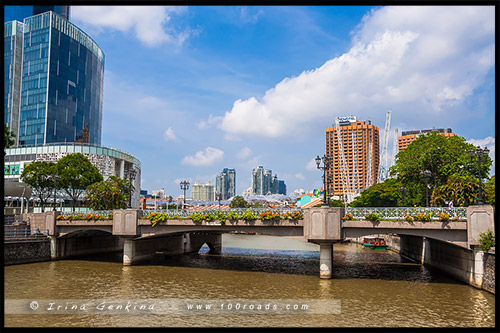 Мост Коулмен, Coleman Bridge, Сингапур, Singapore
