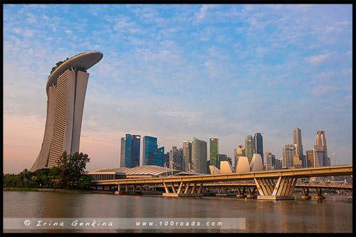 Отель Марина Бэй Сэндс, Hotel Marina Bay Sands, Марина Бэй, Marina Bay, Сингапур, Singapore