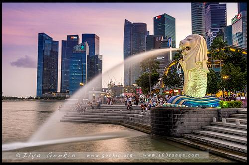 Мерлайон, Merlion, Марина Бэй, Marina Bay, Сингапур, Singapore