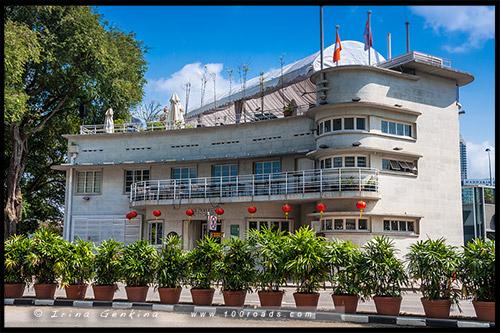 Лодочный дом Фуллертон, Fullerton Waterboat House, Марина Бэй, Marina Bay, Сингапур, Singapore