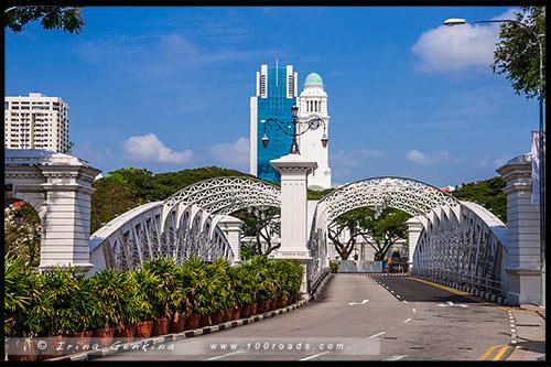 Мост Андерсон, Anderson Bridge, Марина Бэй, Marina Bay, Сингапур, Singapore
