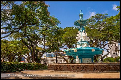 Парк Эспланада, Esplanade Park, Марина Бэй, Marina Bay, Сингапур, Singapore