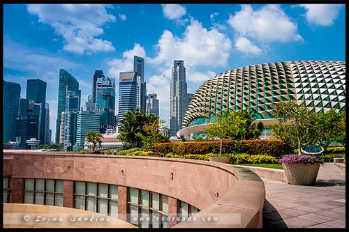 Театр Эспланада, Esplanade Theatres, Марина Бэй, Marina Bay, Сингапур, Singapore