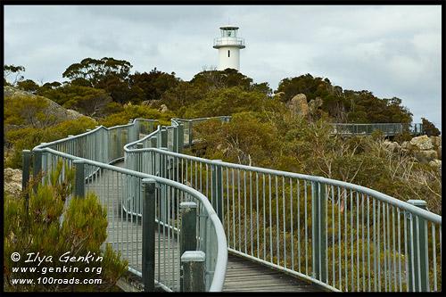 Cape Tourville Lighthouse, Полуостров Фрейсине, Freycinet Peninsula, Тасмания, Tasmania, Австралия, Australia