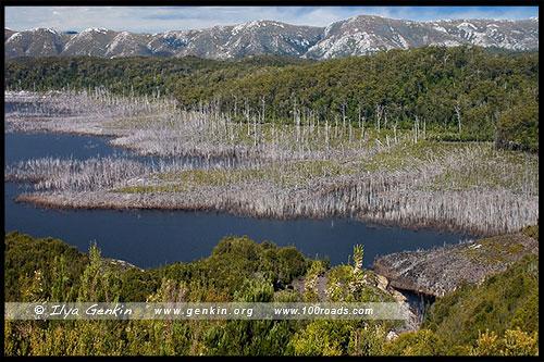 Дамба на реке Гордон, Gordon Dam, Тасмания, Tasmania, Австралия, Australia
