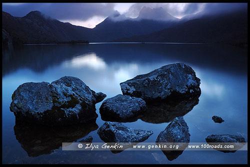 Озеро Дав, Lake Dove, Озеро Голубка, Парк Крэдл Маунтен, Cradle Mountain NP, Тасмания, Tasmania, Австралия, Australia