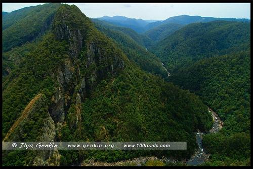 Левен Каньон, Leven Canyon, Тасмания, Tasmania, Австралия, Australia