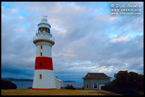 Маяк Нижняя Голова, Low Head, Lighthouse, Лонсестон, Launceston, Тасмания, Tasmania, Австралия, Australia